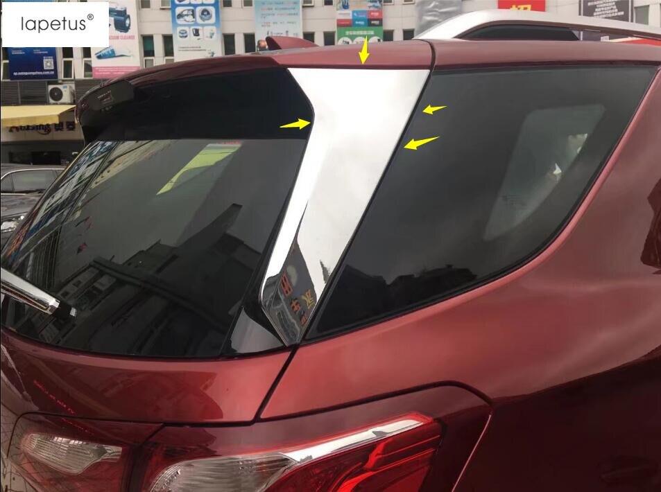 Lapetus ABS accesorios ventana trasera decoración de rayas moldura cubierta Kit Trim 2 uds ajuste para Chevrolet Equinox 2017 - 2020