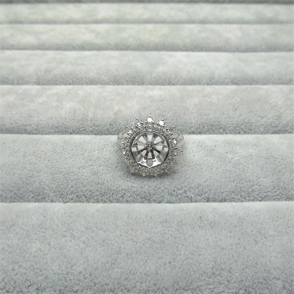 خاتم زواج من الذهب الأبيض عيار 14 قيراط ، 12 مللي متر ، لؤلؤ ، زفاف ، خطوبة