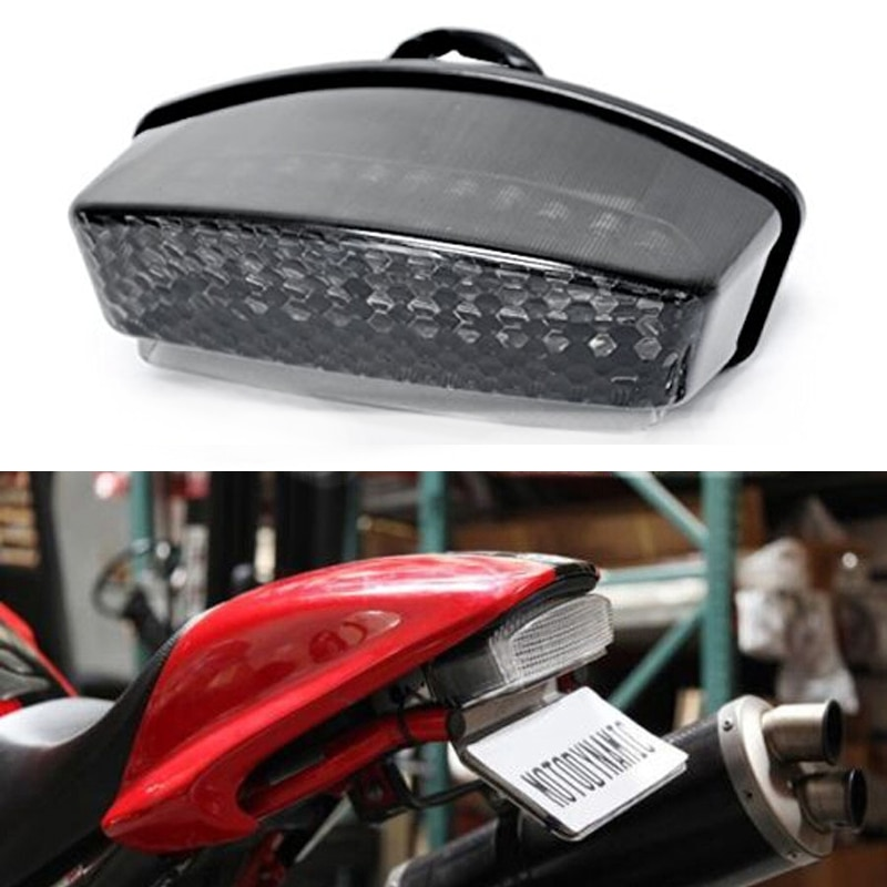 Luz trasera LED integrada para motocicleta Ducati 94-08 Monster 900 1000 S2R S4 S4R S4RS luz trasera roja ámbar