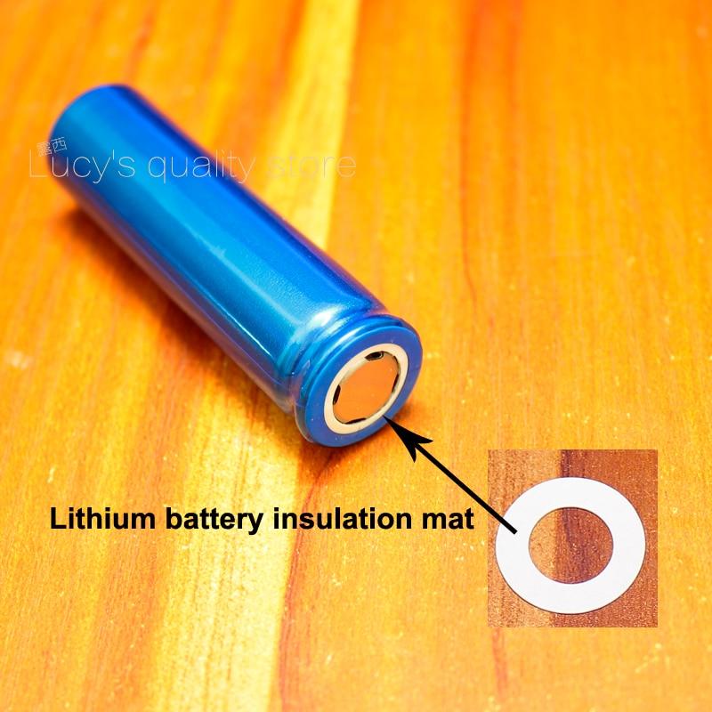 Купить с кэшбэком 100pcs/lot 18650 Lithium Battery PET Plastic Positive Hollow Flat Insulation Pad Original Gasket Battery Accessories17*10.5*0.3