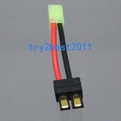Mini Tamiya para mujer a Traxxas TRX adaptador de enchufe macho 5cm 14awg cable