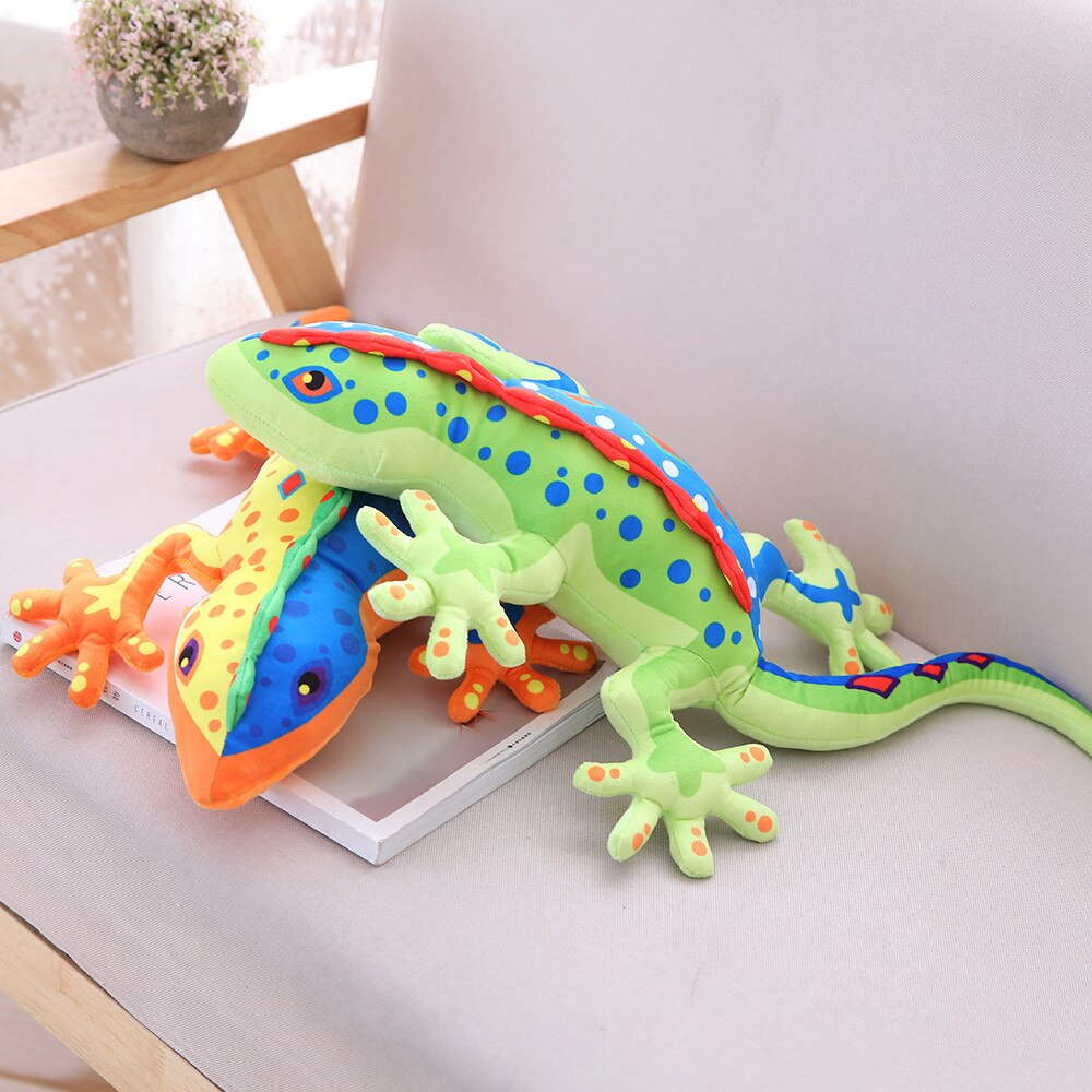 Muñeca de peluche con diseño creativo de camaleón, muñeca de juguete lagartija Gecko, almohada de regalo