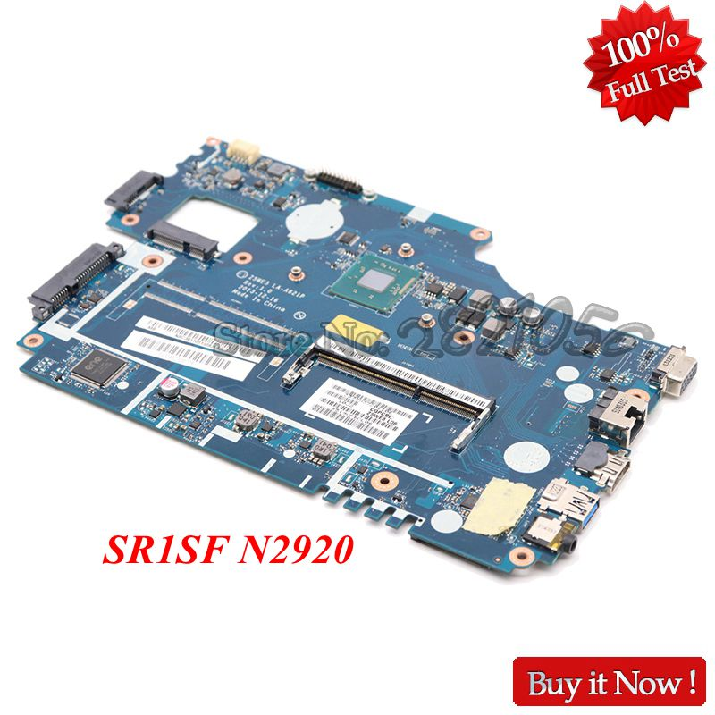 NOKOTION Z5WE3 LA-A621P para la placa base del ordenador portátil ACER aspire E1-510 NBC3A11001 NB. C3A11.001 SR1SF N2920 CPU probada