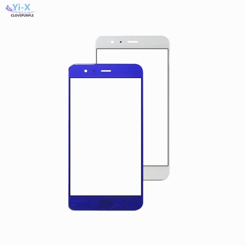 10 unids/lote para Xiaomi 6 Mi6 de vidrio exterior frontal lente superior Panel de pantalla táctil (No digitalizador) piezas de repuesto