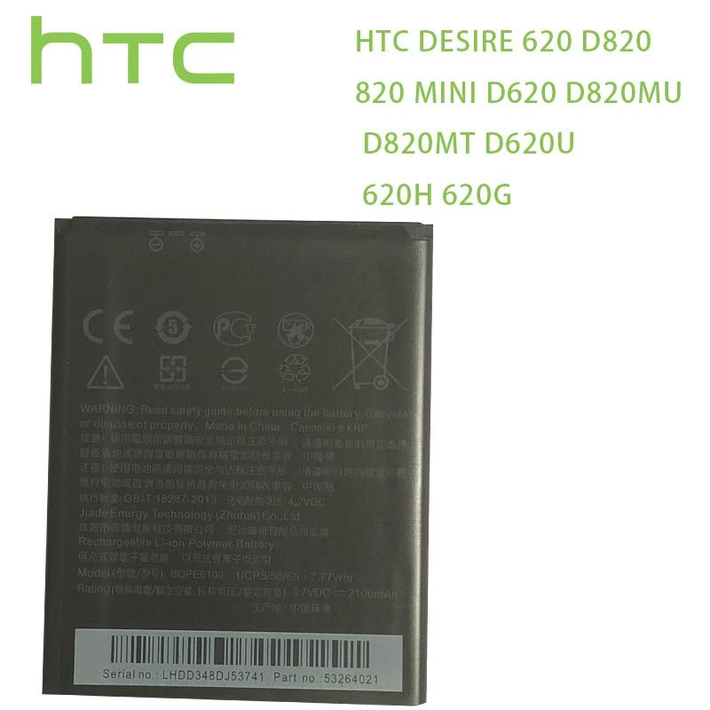 HTC batería Original BOPE6100 para HTC deseo 620 batería D820 820 mini D620 D820MU D820MT D620U 620H 620G Dual Sim teléfono celular
