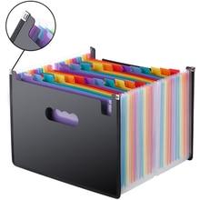 Fichier en expansion A4 dossier bureau école portefeuille dossiers Document organisateur plastique 24 poches 3000 feuilles grande capacité