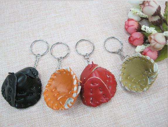 20 штук Мини бейсбольные перчатки, брелки для ключей с сувенирное Кольцо Подвеска детская рекламные школьные AD сувенир подарки