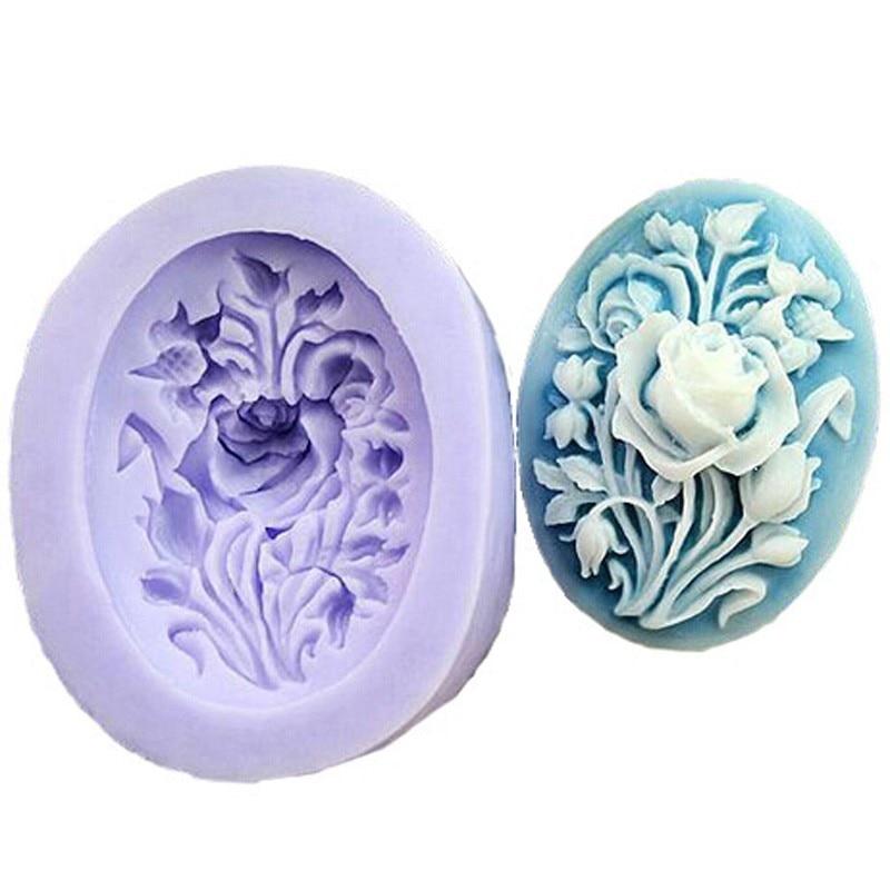 Пион мыло в форме цветка силиконовая форма DIY помадка украшения торта инструменты для выпечки ручной работы конфеты из сахара шоколадные формы