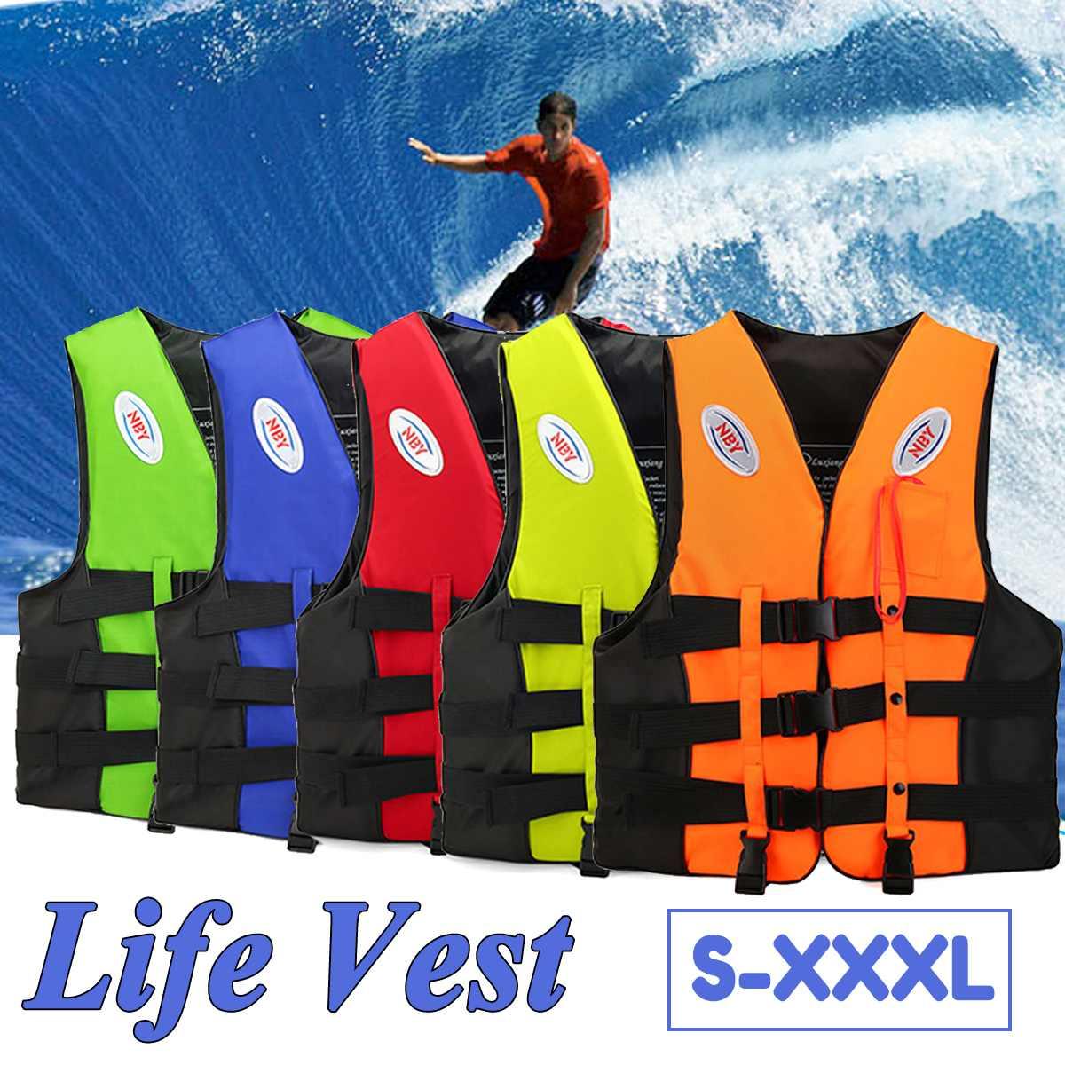 Polyester Adult kids Life Vest Jacket Swimming Boating Ski Drifting Life Vest S-XXXL Sizes Water Sports Man Jacket Wear Fishing