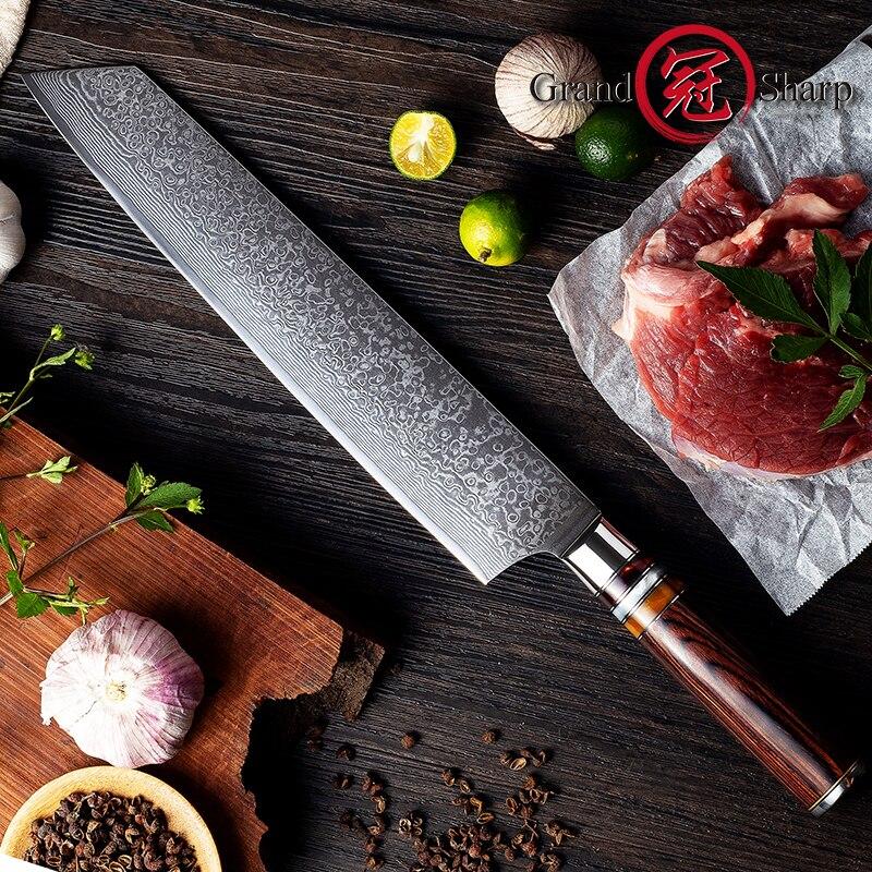 Grandشارب-سكين الشيف الياباني الدمشقي ، 9.5 بوصة ، 67 طبقة vg10 ، مع صندوق هدايا ، جديد