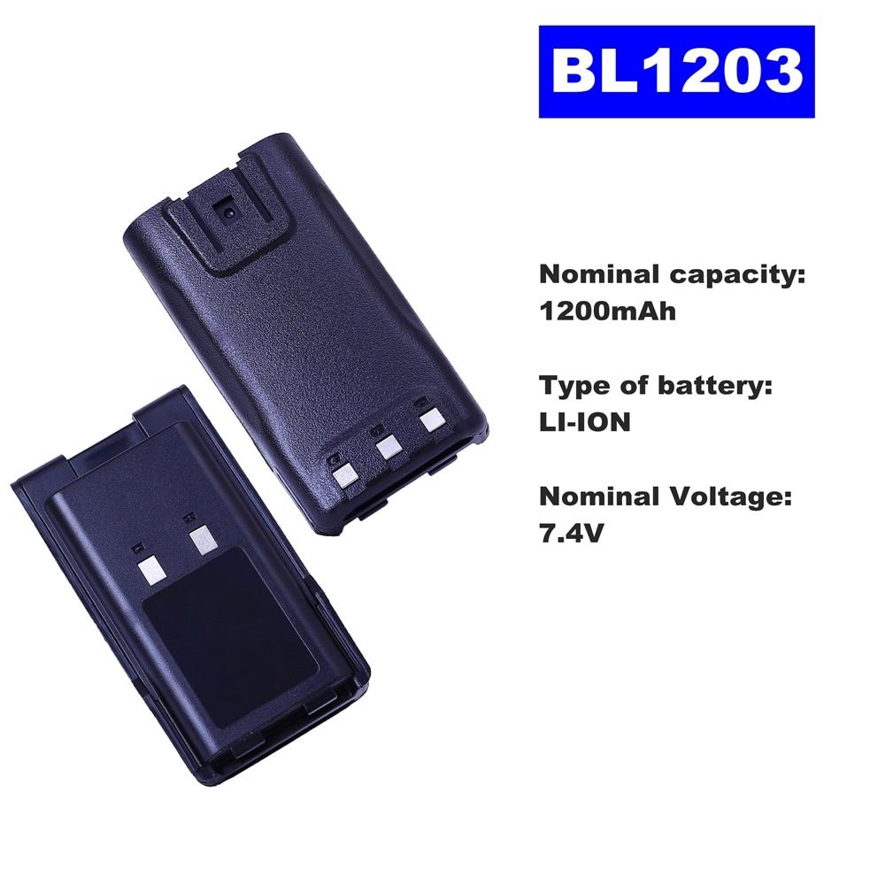 7.4V 1200mAh LI-ION Radio Battery BL1203 For HYT Walkie Talkie TC600 Two Way Radio
