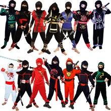Costumes de Ninja Cosplay classique déguisement dhalloween Costumes de Ninja pour enfants décorations fournitures uniformes Costumes de fête de Ninja