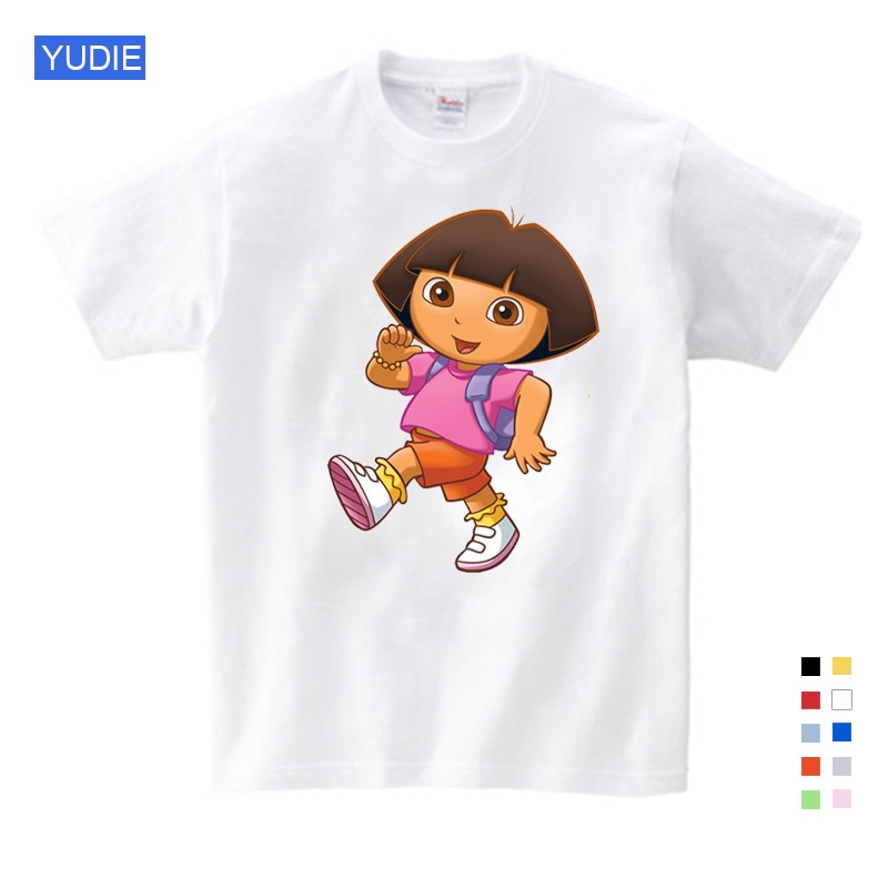 Girl t shirt pink Summer Clothes Casual Shirts Funny T Shirt Children Tops 2020 New T Shirts Children Boy girls T Shirt yellow