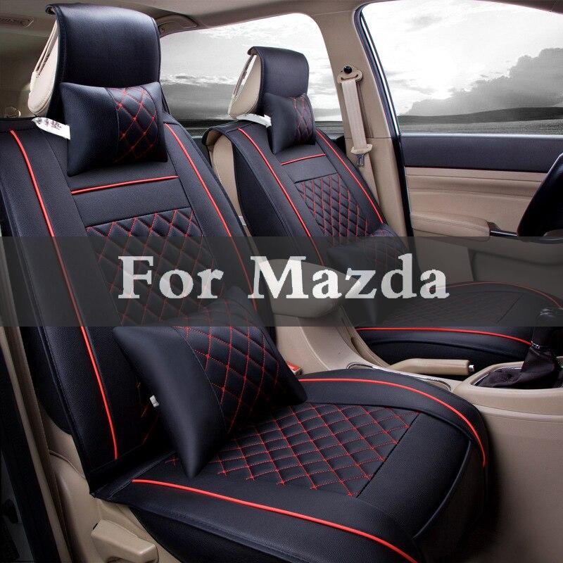 Nuevas fundas de asiento para automóvil de cuero Pu de lujo para Mazda Mps Cx-5 Cx-7 Cx-3 Cx-9 Atenza az-offroad Axela
