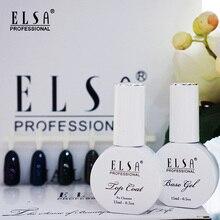 Elsa Top Basis Mantel Gel Polish UV Shiny Sealer Soak off Verstärken 15ml Langlebige Nail art Maniküre Gel lak Lack Primer