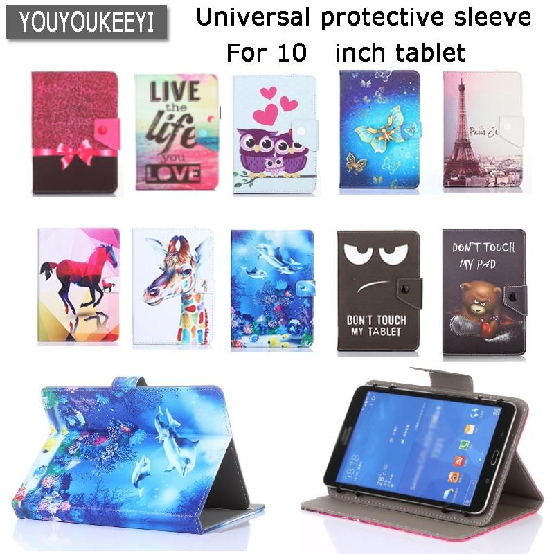 Universal Tampa do suporte case for Onda V10pro/V10plus/V18 pro 10.1 polegadas Tablet Estojo De Couro Dos Desenhos Animados Impresso PU + presente