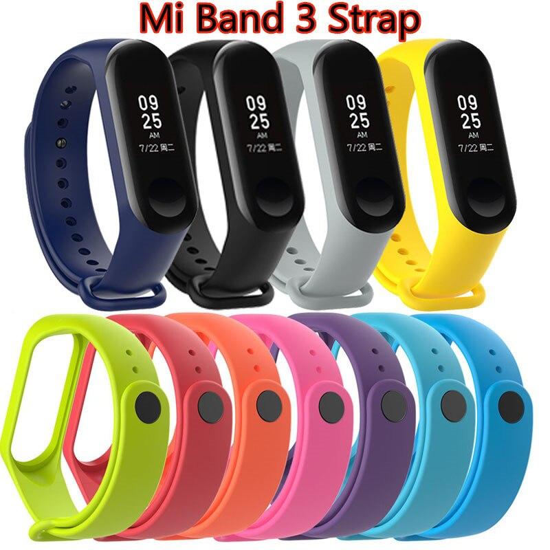 Sports Strap for Xiaomi Mi Band 3 Silicone Strap Mi Band3 Watchband Bracelet M3 Smart bracelts smartband accessories