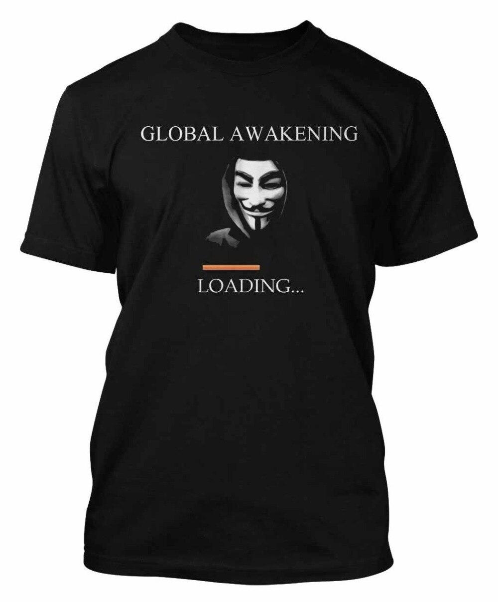 Camiseta anónima V For Vendetta Mask Mens We Are The 99% camiseta Dtg9 moda camiseta nueva camisetas novedad o-cuello Tops 80S camisetas