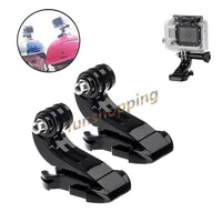 1 2pcs Vertical Surface J-Hook Buckle Mount Adapter for Gopro Go pro HD Hero 6 5 4 3 3  4 2 Edition Xiaomi yi camera Accessories