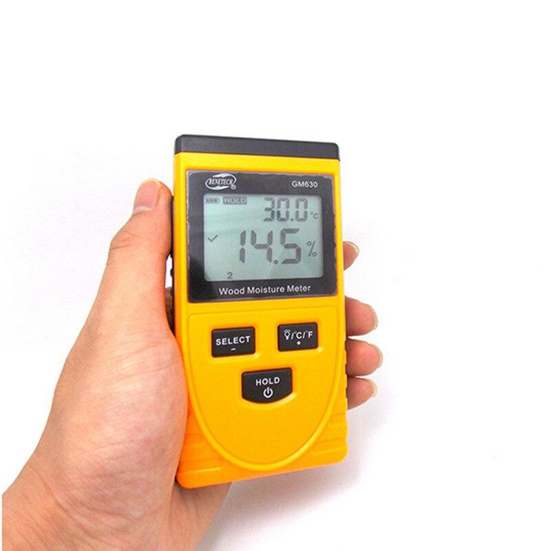 Tipo de indução medidor de umidade da madeira, placa de madeira mão digital instrumento de medição do teor de umidade