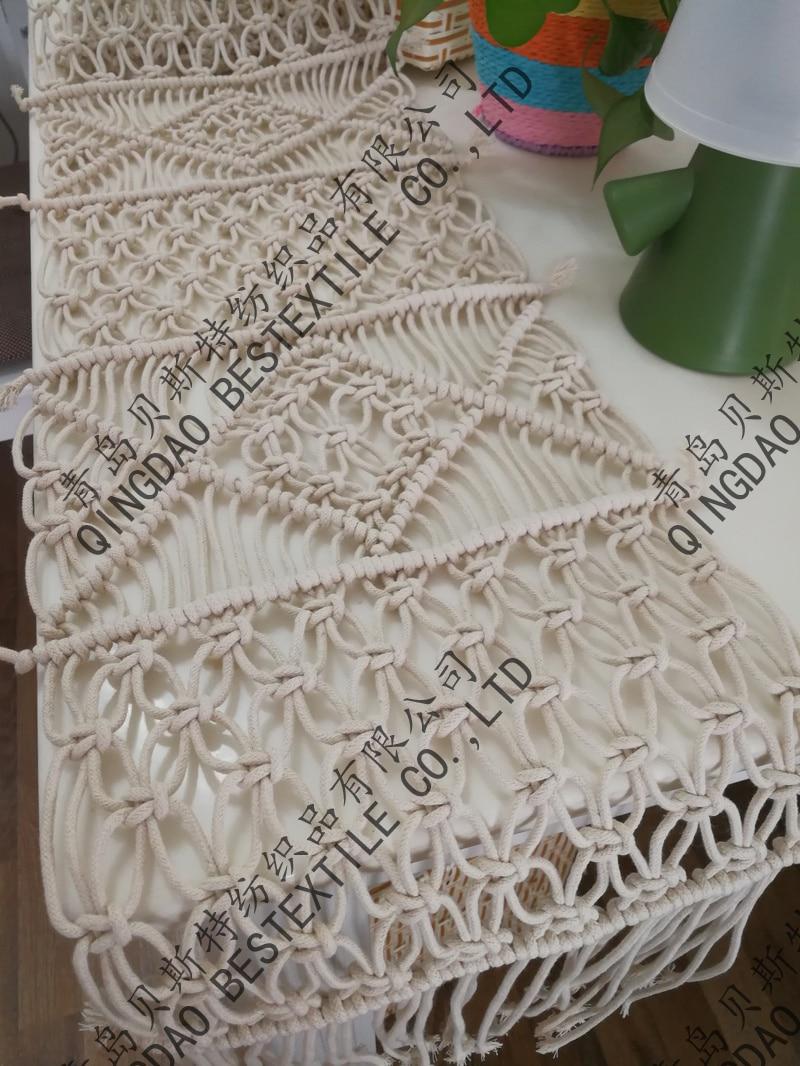 مفرش طاولة مكرامية للزفاف, تصميم بوهيمي بمقاس مخصص