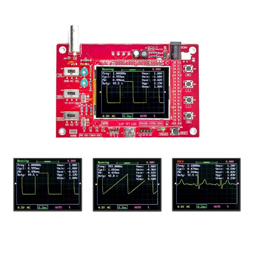 "DSO FNIRSI-138 2,4 ""TFT Digital Oszilloskop 1Msps + Sonde Analog Bandbreite (Geschweißt)"