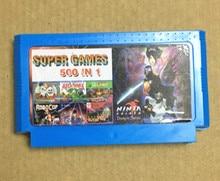 Cartouche de jeu 500 en 1, sans répétition, carte de jeu classique 8 bits FC60Pins