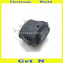 20 stücke 3Pins 3 Dateien Rocker Schalter Rocker Switches6A/250V Push Button Schalter Schwarz für elektrische wasserkocher