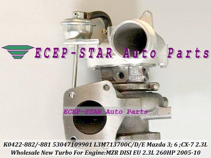 K0422-882 K0422 882 K0422-881 881 53047109901 L3M713700C L3M713700D E Turbo para Mazda 3 6 CX-7 2005-10 2.3L punto MZR DISI de la UE 260HP