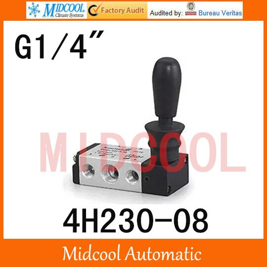 "Mano de alta calidad-Pull Válvula de válvula manual SHAKO Puerto 1/4 ""4H230-08 Manual de control de la válvula"