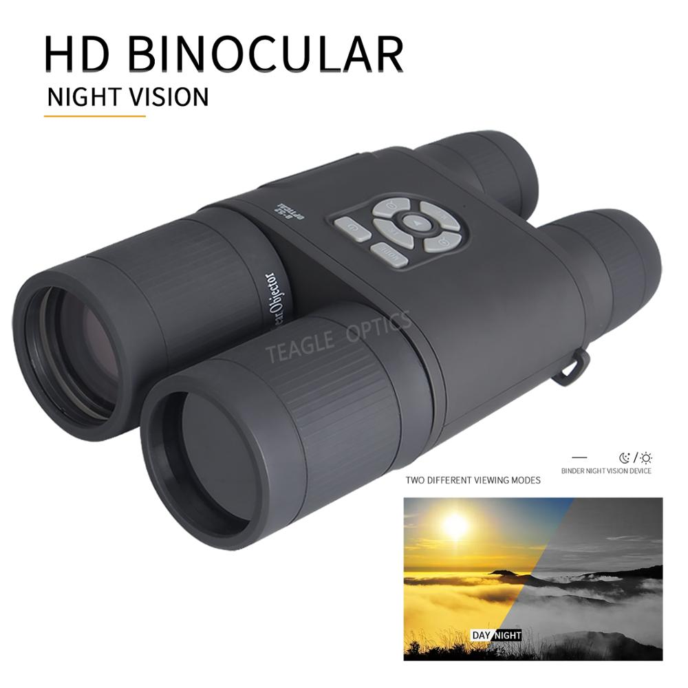 TEAGLE 8X visión nocturna de día 8X52mm prismáticos telescopio HD telescopio alcance con función de grabación para Camping caza al aire libre