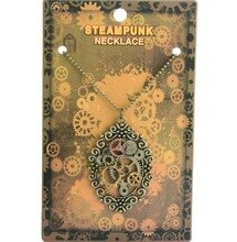 Vintage design brass ox nice hollow pattern oval pendnat steampunk gears necklace