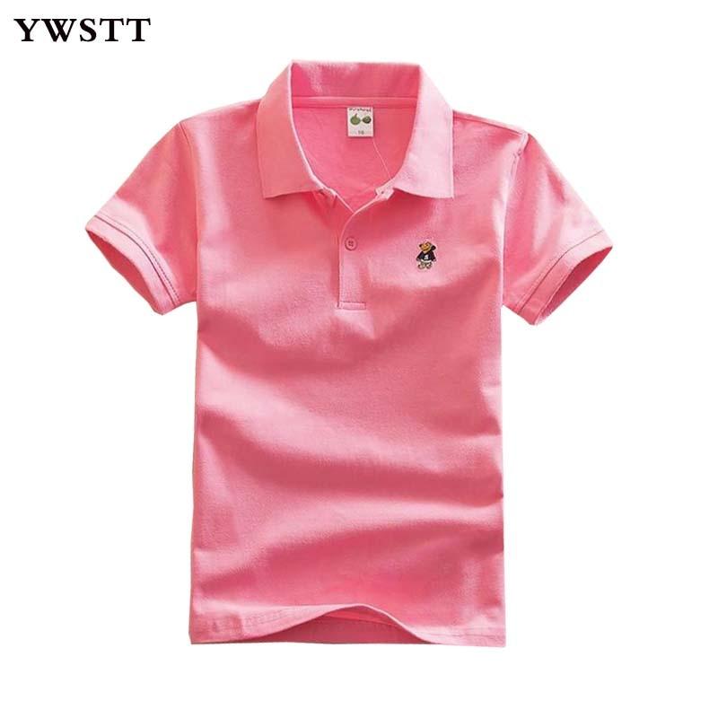 Boys Polo Shirt Brand Mens Solid Color Polo Shirts 2018 Kids Lapel Casual Cotton Short Sleeve Polos  Boy Summer Clothes