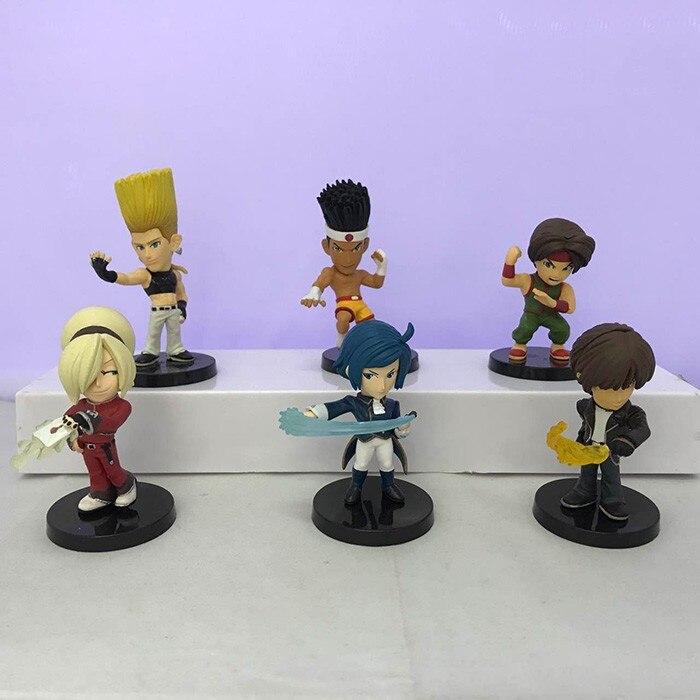 6 unids/set Kof figuras para juego KYO rey IORI de acción de PVC figuras de juguetes para regalar