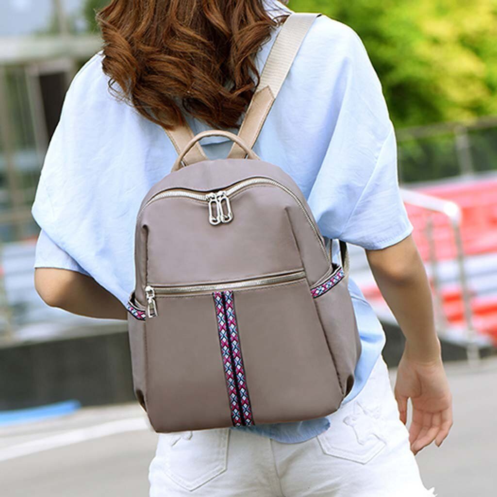 ISHOWTIENDA bolsa de moda para mujer, bolsa de ordenador de gran capacidad, mochila de estudiante, bolso de hombro, bolso de mujer, cuero # Y5