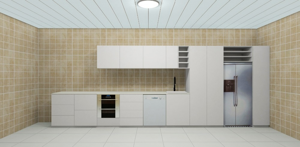 2017 cheap kitchen free design customized lacquer kitchen cupboard  2 pack paint kitchen cabinet  modern modular kitchen