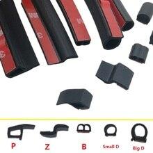 Уплотнительная лента общего назначения для автомобильной двери большой D маленький D Z P Тип Водонепроницаемая Звукоизоляционная уплотнительная лента EPDM резиновые уплотнительные ленты