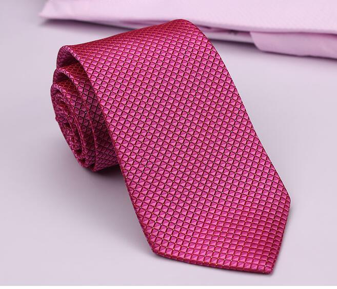 Special Offer Ties Fashion Men Rose pink Business Tie 8cm Wide Wedding Groom  Dot Necktie