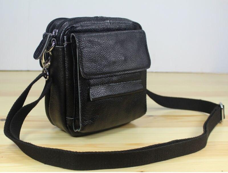 Фото - Fashion 2020 Men's Genuine Leather  messenger Bags Men Leather Shoulder bag small Crossbody Bag sling Casual Bag Belt Black M153 m153 003