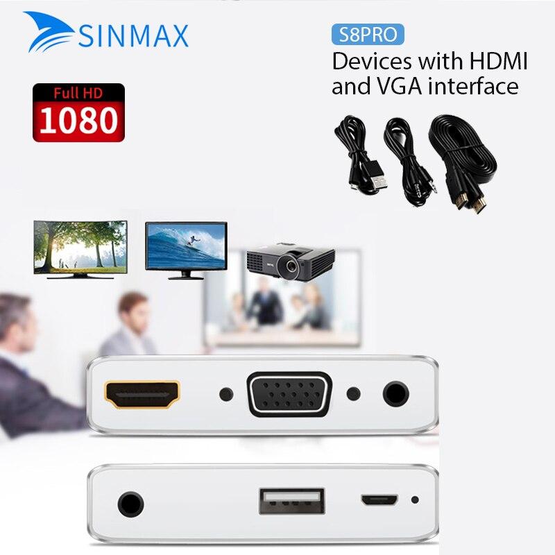 EZCast 1080p TV dongle HDMI/VGA + Audio convertidor Digital AV Adaptador 3 en 1 USB a HD pantalla reproductor multimedia VS Miracast