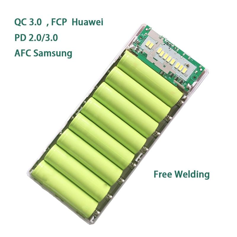 Бесплатная Сварка QC 3,0 FCP Быстрая зарядка Мобильный Внешний аккумулятор DIY наборы IP5328 настольная лампа GF-8V PE быстрое зарядное устройство 5В 9В 12В 2А Powerbank