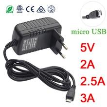 Micro USB Power Adaptor 5V 3A 2A 2.5A 5 v volt 100-240V Adapter Supply Charger for Raspberry PI 3 Zero Model B B+ Tablet PC 5V3A