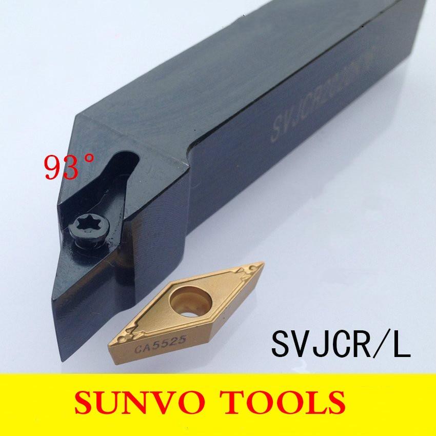 SVJBR/SVJBL 1616H11/1616H16 utiliza inserto de carburo VCBT VCMT VCGT 110304/110308/160404/160408 soporte de herramientas de torneado exterior