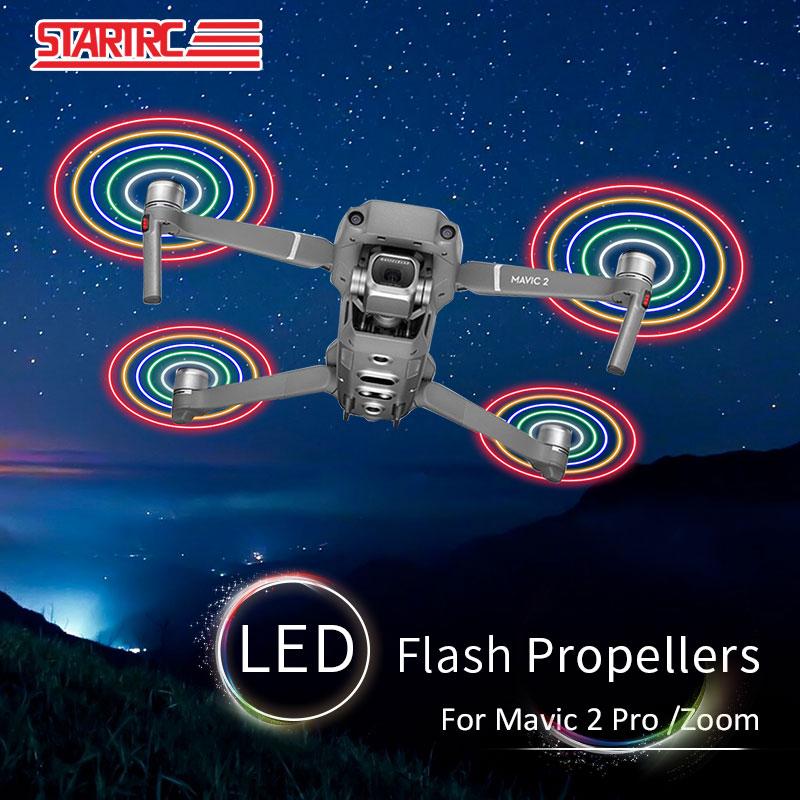 STARTRC-مراوح فلاش LED للطائرات بدون طيار DJI Mavic 2 pro ، مروحة سريعة التحرير منخفضة الضوضاء لملحقات DJI Mavic 2 pro/zoom