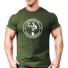 2019 nouvelle arrivée T-Shirt col rond hommes Arnold classique musculation T-Shirt   entraînement formateur Motivation en ligne T-Shirt conception