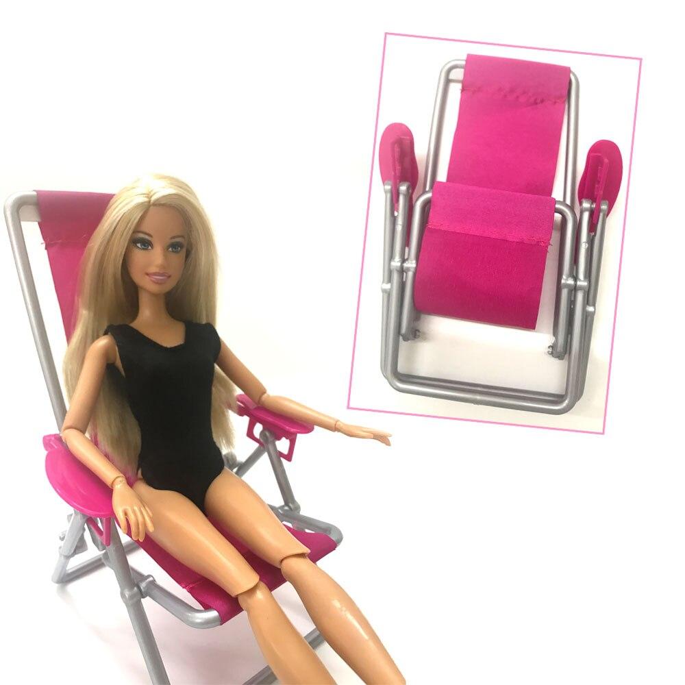 NK One piezas muñeca accesorios de plástico muñeca playa silla plegable sueño casa sofá sillón muebles para muñeca Barbie 002A DZ
