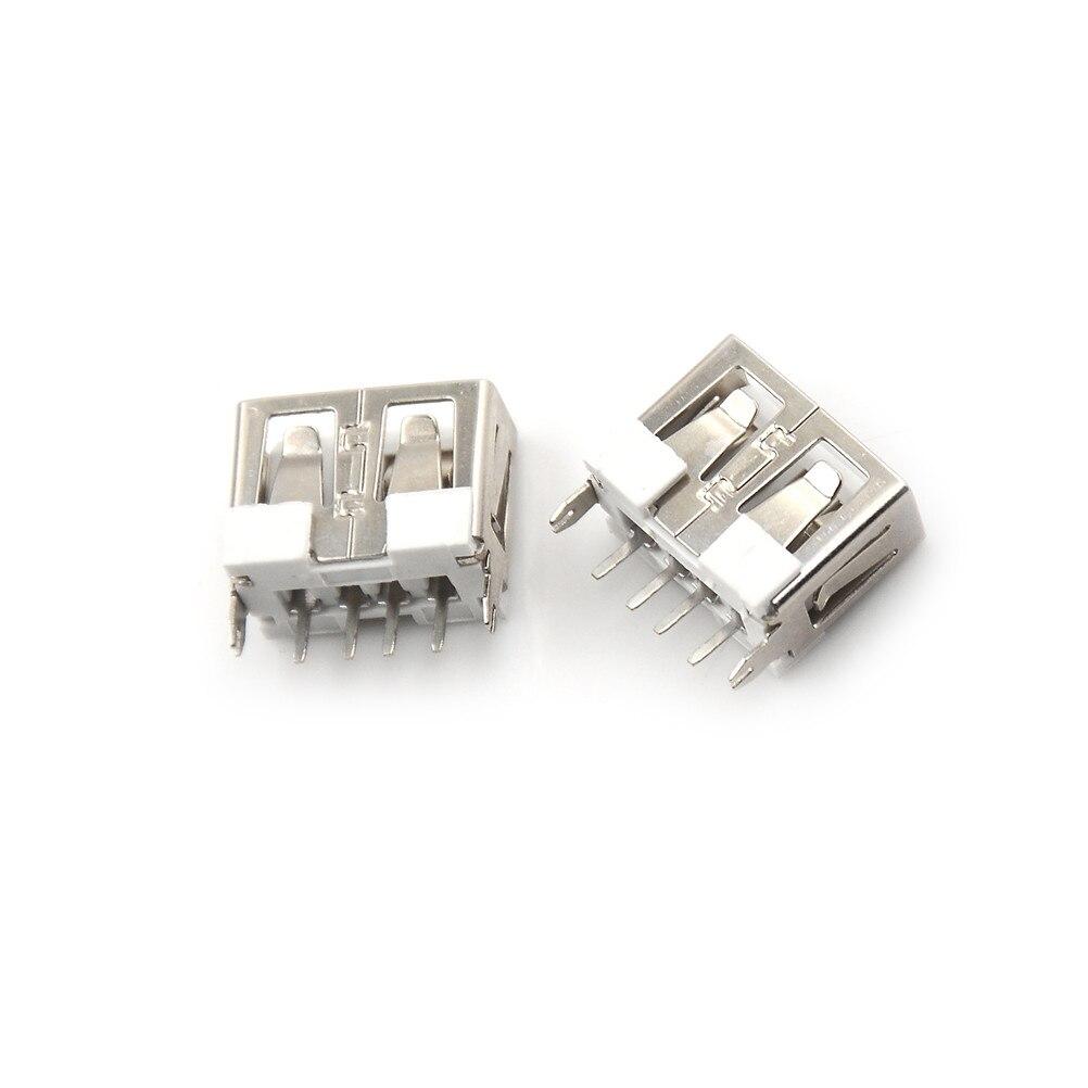 20Pcs USB-A typ Vertikale 2,0 4pins Durable USB Typ A Female Solder Buchsen Stecker PCB Buchse