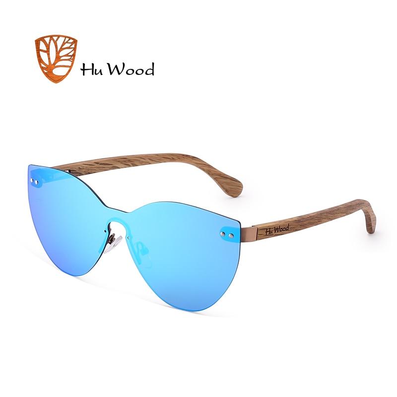 HU WOOD New Fashion Sunglasses Men Women Butterfly Sun Glasses Natural Wood Frame Rimless Driving Fishing UV400 GR8025