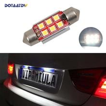 1x Auto Led Foutloos 36mm C5W 3030 SMD Lamp 12 V License Kentekenlamp Voor BMW E46 e90 E92 E39 E53 E60 E71 Mini Cooper