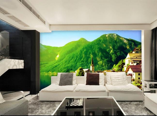 The custom 3D murals,European landscape painting style papel de parede,living room sofa TV wall bedroom wall paper
